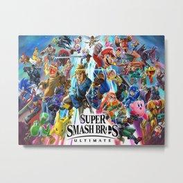 Super Smash all Bros Metal Print