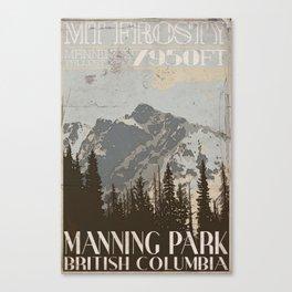 Mt. Frosty (Manning Provincial Park) Vintage Style Poster Canvas Print