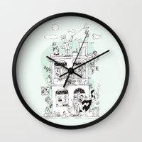 the neighbourhood Wall Clocks featuring Neighbourhood by neicosta