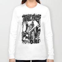 horror Long Sleeve T-shirts featuring Horror by HEADBANGPARTY