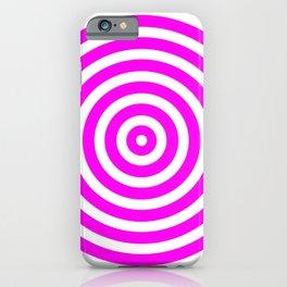 Circles (Magenta & White Pattern) iPhone Case