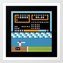 Minimal NES: Track & Field Art Print