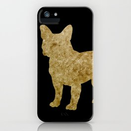 Golden Frenchie on black iPhone Case