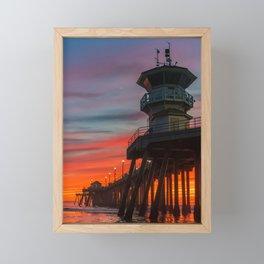 Fading Fire Framed Mini Art Print