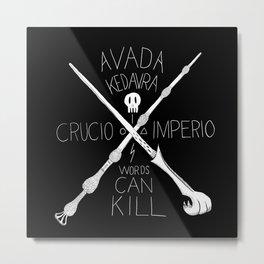 Words Can Kill Metal Print