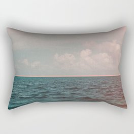 Turquoise Ocean Peach Sunset Rectangular Pillow