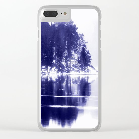 Painted scene Clear iPhone Case
