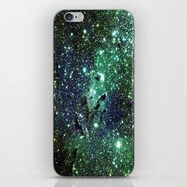 Green Eagle Nebula / Pillars of Creation iPhone Skin