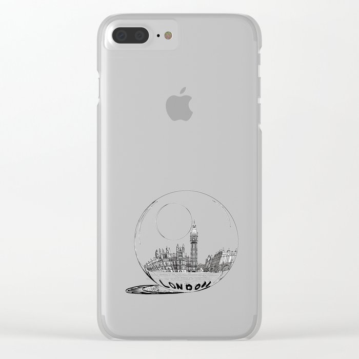 London in a glass ball . artwork Clear iPhone Case