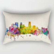 Minneapolis Minnesota Skyline Rectangular Pillow