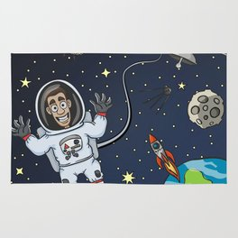 Astronaut In Space Rug
