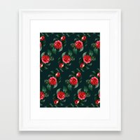 floral pattern Framed Art Prints featuring Floral Pattern by Heart of Hearts Designs
