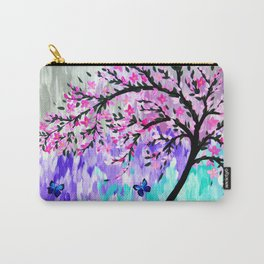 cherry blossom with Ulysses butterflies Carry-All Pouch