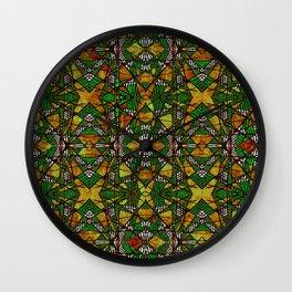 Geometric Glass Mosaic Pattern Wall Clock