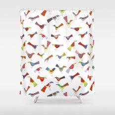 Birds doing bird things Shower Curtain