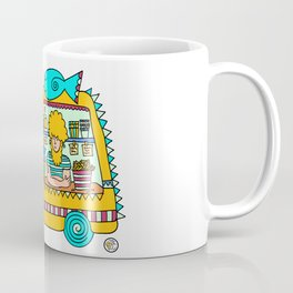 fish and chips food truck cool dude Coffee Mug