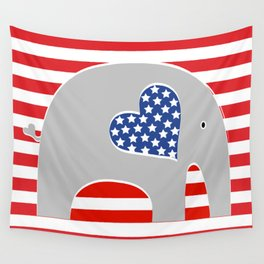 American Elephant Wall Tapestry