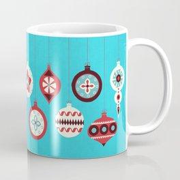 Retro Christmas Baubles Coffee Mug