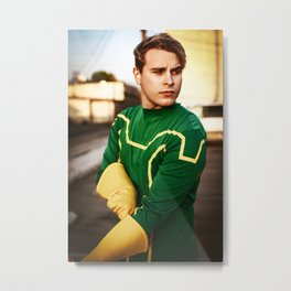 Suit Up, Fight Crime Metal Print