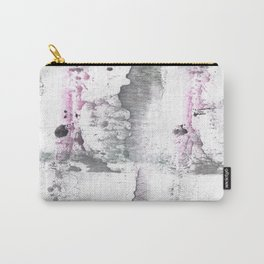 Gray Pink hand-drawn watercolor pattern Carry-All Pouch