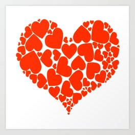 A Heart Full Of Love Red Valentine Hearts Within A Heart Art Print