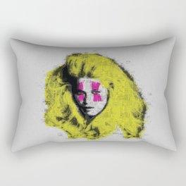 Claudia Schiffer - top model - pop icon Rectangular Pillow