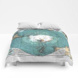 Antarctica Vintage map Comforters