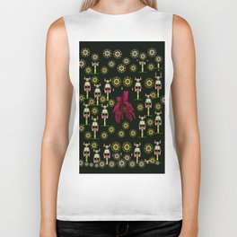 floral  candle light skulls and mother earth in soft hands Biker Tank