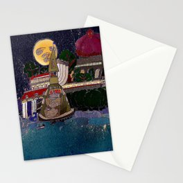Full Moon Castle Stationery Cards