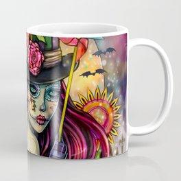 Sugar Skull Girl Fantasy Halloween Art Coffee Mug
