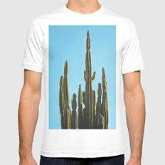 Cactus MEDIUM White Mens Fitted Tee