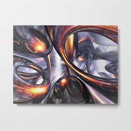 Rippling Fantasy Abstract Metal Print