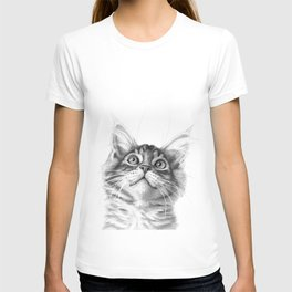 Kitten looking up G115 T-shirt