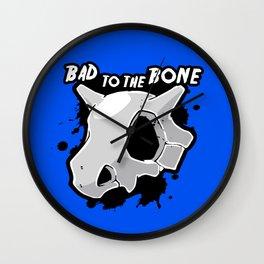 Bad To The Bone Wall Clock
