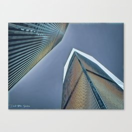 Twin Towers - 9/07/01 - Graphic 2 Canvas Print