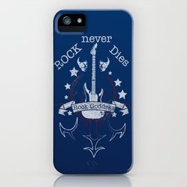 Rock Never Dies  - For Music Fans iPhone Case