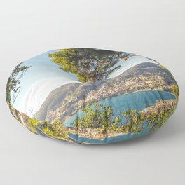 Maritime pine trunk in French Riviera in a sunny day Floor Pillow