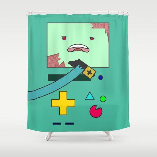 Zom-BMO Shower Curtain
