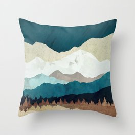 Fall Forest Night Throw Pillow