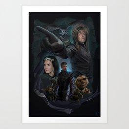Return To Labyrinth-Movie Poster Art Print