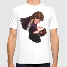Star Wars, Han & Leia The Empire Strikes Back Mens Fitted Tee MEDIUM White
