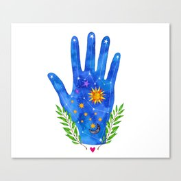 Constellation Palm Canvas Print
