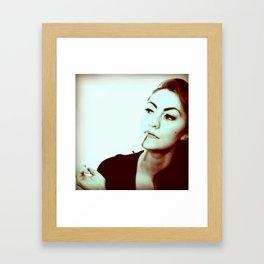 Femme fetal film noir Framed Art Print