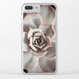 Echeveria #2 Clear iPhone Case