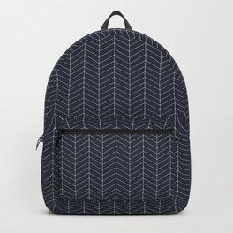 Herringbone. - Navy Blazer (small scale) Backpack