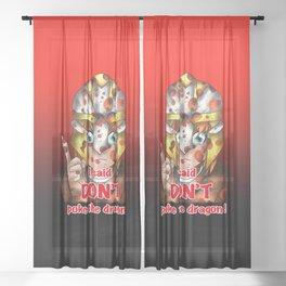 dnd warrior elf with dragon blood Sheer Curtain