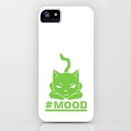#MOOD Cat Green iPhone Case