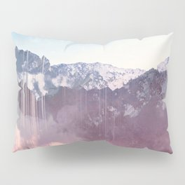Glitched Mountains Pillow Sham