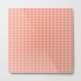 Rainbow Eyes Pattern - Tiny Light Orange Metal Print