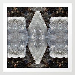 Diamond Ice Jewels Pattern Art Print